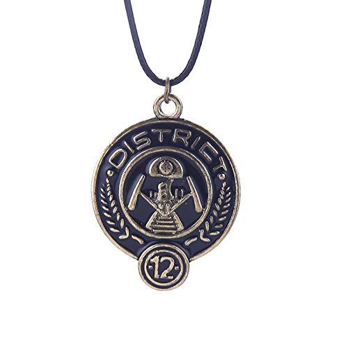 The Hunger Games Necklace Zone Logo Colgante De Esmalte Retro Bronze Fashion New Hot Movie Jewelry Para Mujeres Hombres Niños