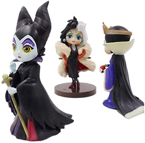 Personajes QPosket Q Posket Pequeños Villanos Malicious Evil Queen Cruella De Vil PVC Figura de colección Modelo Decoraciones Modelo Marioneta Regalo