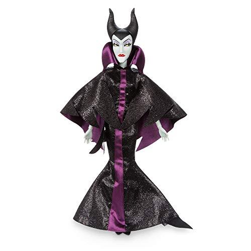 Disney Store Oficial Maléfica 30cm muñeca clásica de la Figura de Juguete Vestido del Brillo