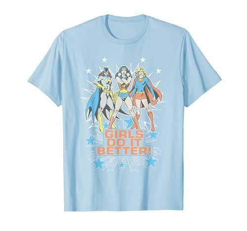 Wonder Woman Supergirl Batgirl Girls Do It Better Camiseta