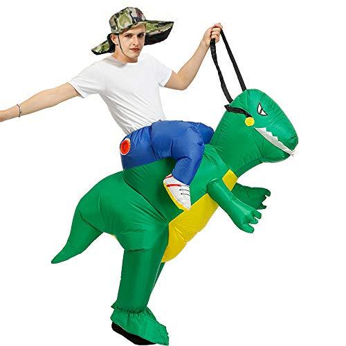 HUAMAO - Disfraz de dinosaurio hinchable para adultos, diseño de animales