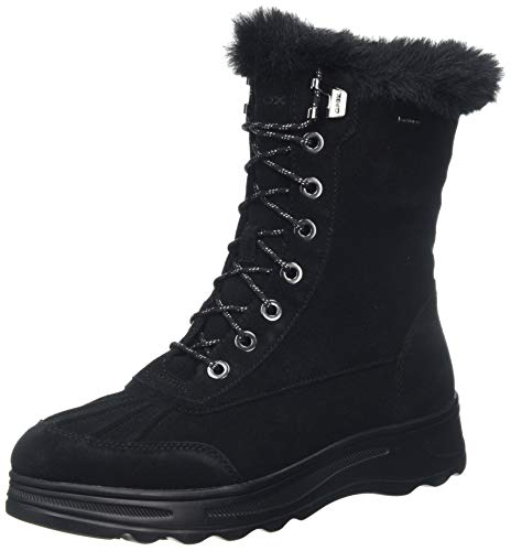 Geox D HOSMOS B ABX B, Botas de Nieve Mujer, Negro (Black C9999), 39 EU