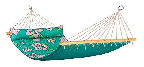 LA SIESTA - Hawaii Palm - Hamaca con Barra Doble Acolchada