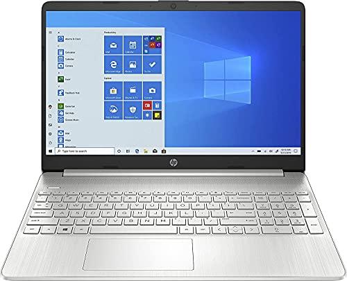 HP 15s-fq2037ns - Ordenador portátil de 15.6' FullHD (Intel Core i3-1115G4, 8GB de RAM, 256GB SSD, Intel UHD Graphics, Windows 10) Plata - teclado QWERTY Español