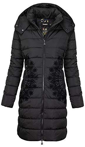 Desigual Coat Mandala Abrigo, negro (negro 2000), 48 para Mujer
