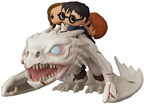 Funko- Pop Ride Potter-Dragon w/Harry, Ron, & Hermione Figura Coleccionable, Multicolor (50815)