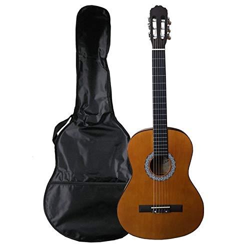 NAVARRA NV11 guitarra clásica 4/4 marrón, bolsa/Gig Bag, 2 púas