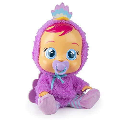 Bebés Llorones Lizzy - Muñeca interactiva que llora de verdad con chupete y pijama de Pavo Real