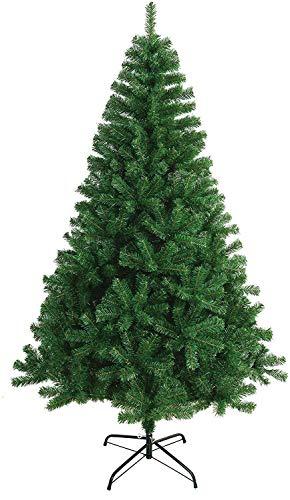 Solauga Árbol de Navidad Artificial Extra Relleno Abeto de Hoja Espumillón 150-240cm Arboles C/Soporte Metálico (180cm 617Tips, Verde)