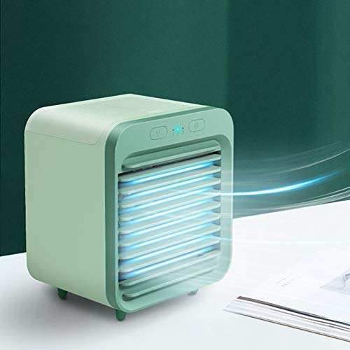 Enfriador de Aire, Aire Acondicionador Móvil, Modos Climatizadore Evaporativo 4 en 1, Purificador, Humidificador, Ventilador, Mini Air Conditioner Air Cooler USB Portable