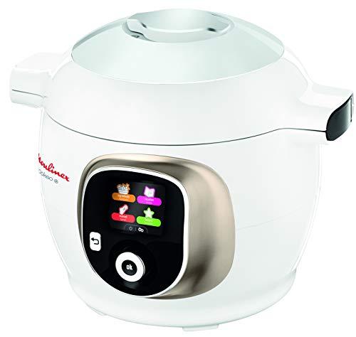 Moulinex Cookeo CE851A - Robot de Cocina, cocina alta Presión, 6 Modos Cocción, programable, 150 recetas programadas y Bol Extraíble Antiadherente con Capacidad hasta 6 raciones y fácil interfaz