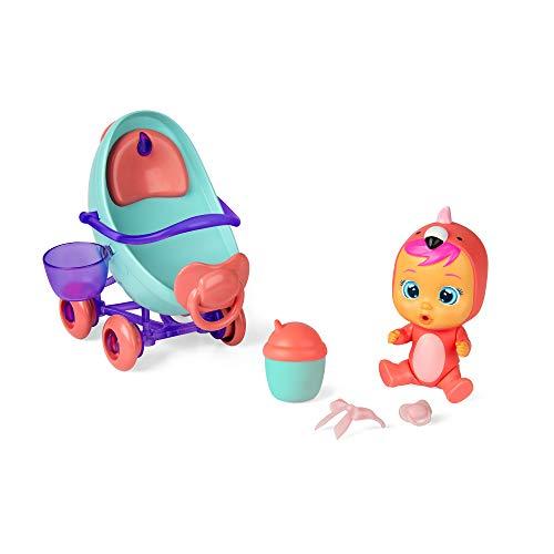 Bebés Llorones Lágrimas Mágicas Coche de Fancy - Mini muñeca y su Vehículo con Vapor y Luz