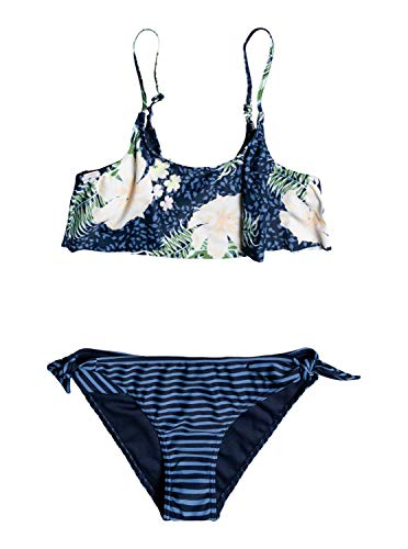 Roxy Heaven Wave - Conjunto de Bikini con Volante - Chicas 8-16 - 8 - Azul