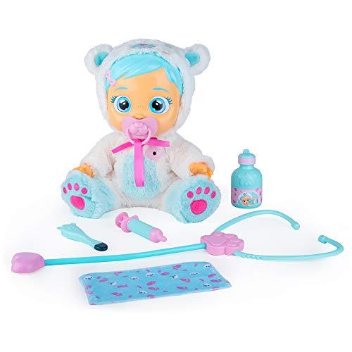 Bebés Llorones Kristal está malita - Muñeca interactiva que llora de verdad y emite sonidos reales de bebé