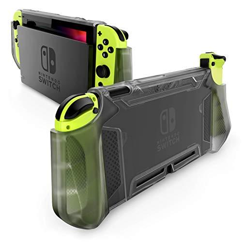 Mumba Funda acoplable para Nintendo Switch Carcasa Protectora TPU Grip Funda de Agarre Compatible con la Consola de Nintendo Switch y Controlador Joy-con (FrostBla)
