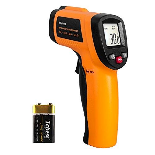 Helect (No para Humanos) Termómetro Infrarrojo Digital Láser Sin Contacto, Pistola de Temperatura -50℃ a 550℃ con pantalla LCD