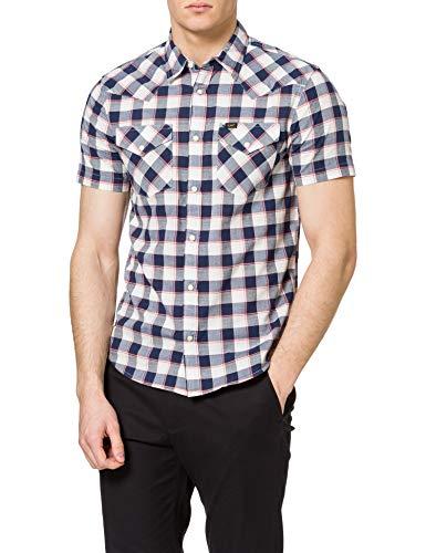 Lee Western Camisa, Azul Marino, L para Hombre