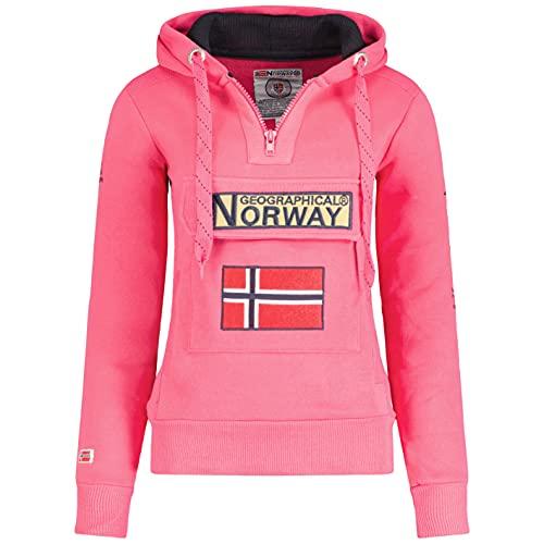 Geographical Norway - Sudadera DE Mujer GYMCLASS Rosa Llamativo S
