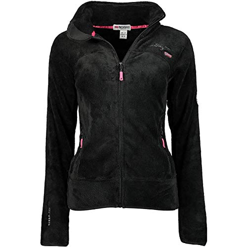 Geographical Norway UPALINE LADY - Suave Cálido Mujeres - Chaqueta Calida Invierno Suave Mujeres Caliente - Pullover Casual Tops Mangas Largas - Manga Larga Perfecto Suéter Piel NEGRO S