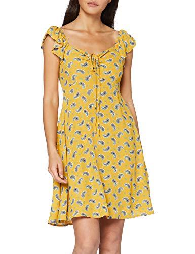 Springfield Corto Amebas-c/04 Vestido de Fiesta, Amarillo (Yellow 4), 44 (Tamaño del Fabricante: 44) para Mujer