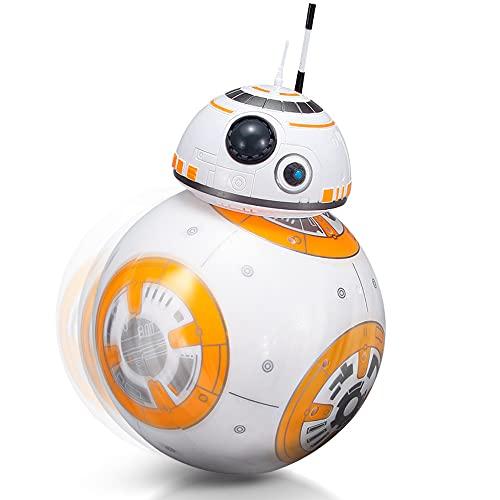 HJBH 2.4G Robot De Control Remoto Inteligente Star Wars Upgrade RC Bb8 Robot con Música Sonido Figura De Acción Juguetes De Regalo Bola BB-8 para Niños, Force Awakens Star Wars Minifigure
