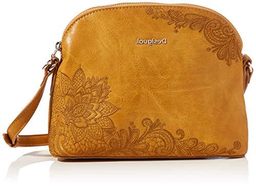 Desigual Accessories PU Across Body Bag, Bolsa para Cuerpo Mujer, amarillo, U