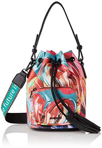 Desigual PU Hand Bag, Mano Mujer, Verde, U