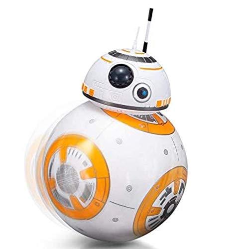 ASDFGHJ Star Wars BB8 Robot, 2.4G Robot de Control Remoto Inteligente Star Wars Upgrade RC BB8 Robot con música Sonido Figura de acción Juguetes de Regalo Bola BB-8 para niños