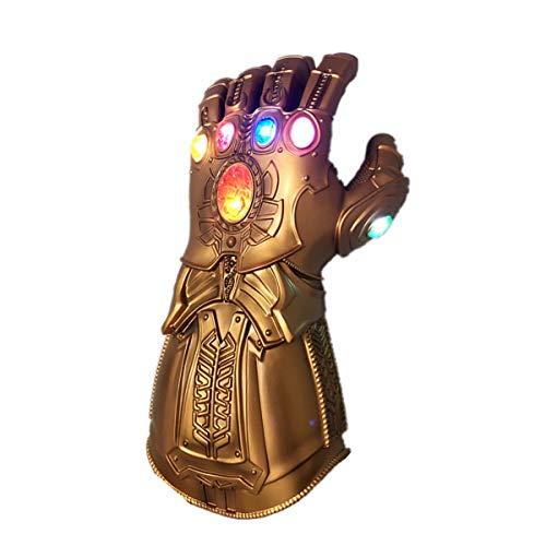 NUWIND - Guante de Thanos con Luz Infinity Gauntlet de los Vengadores con Magnética Gemas Disfraz de Cosplay Halloween (Niño)