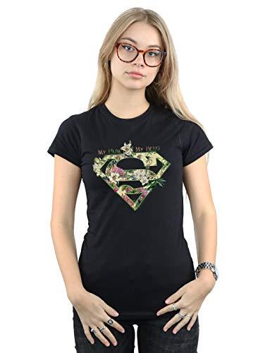 DC Comics Mujer Supergirl My Mum My Hero Camiseta Negro Medium