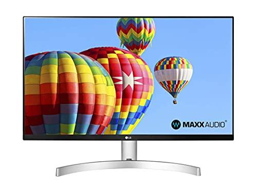 LG 27ML600S - Monitor de 27' Full HD con LED e IPS, 1920 x 1080, MBR 1 ms, AMD FreeSync 75 Hz, Audio estéreo 10 W, HDMI (HDCP 1.4), VGA, Salida de Audio, Flicker Safe, Blanco