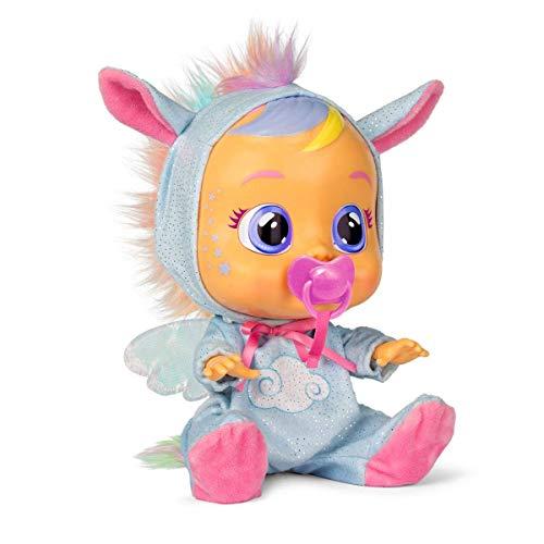 Bebés Llorones Fantasy Jenna - Muñeca Interactiva que llora de verdad con chupete y pijama de Pegaso