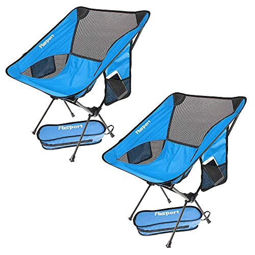 Silla Camping Plegable, Ligera Compacta Ultraligera Sillas Camping Juego de 2, Arga Máxima 150 kg, con Bolsa de Transporte para Exteriores, Playa, Pesca, Picnic