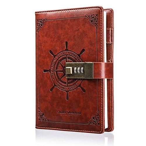 Cuaderno de Contraseña, MOHOO Journal B6 Diario Secreto Libretas de Contraseñas 224 páginas 205 x 140 mm Bloc de Notas Contraseña Registro Diario con Candado Coded para Niño Niña Regalo de Cumpleaños