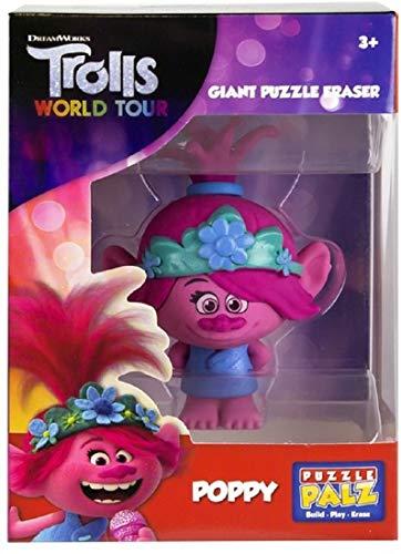 Familienkalender Goma de borrar Poppy compatible con DreamWorks Trolls | Escuela | Material Escolar | Goma de borrar | Regalo | Niño | Niña |