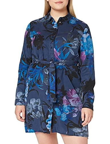 Desigual Vest_Florencia Vestido Casual, Blue, M para Mujer