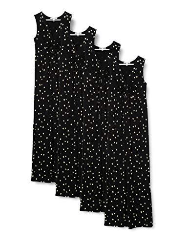Esprit Maternity Dress Maxi SL AOP Vestido, Negro (Black 001), XS para Mujer
