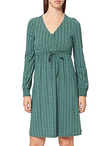 Esprit Maternity Dress Nursing LS AOP Vestido, Verde Teal 373, 44 para Mujer