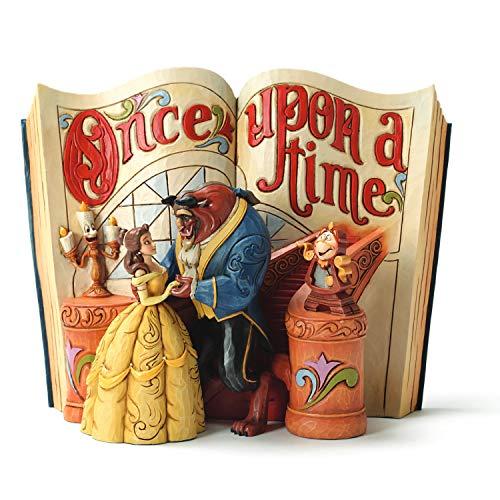 Disney Traditions, Figura en forma de libro de 'La Bella y Bestia de La Bella', para coleccionar, Enesco