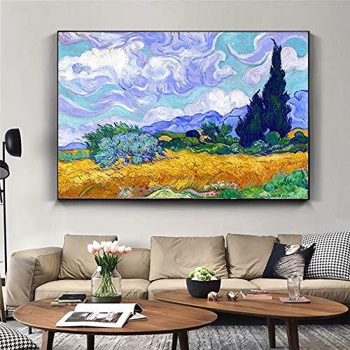 Puzzle 1000 piezas Van Gogh paisaje de flores abstractas famoso cuadro de arte clásico pintura moderna puzzle 1000 piezas adultos educativo divertido juego familiar para niños50x75cm(20x30inch)
