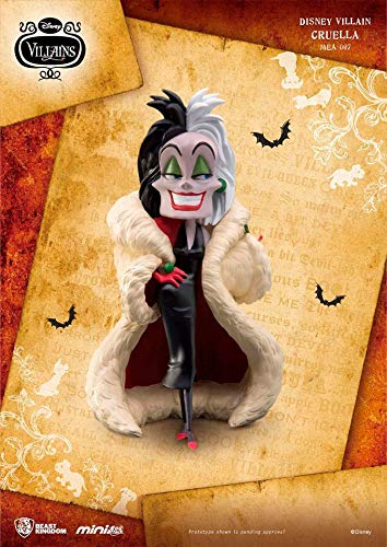 Figura Cruella de Vil 13 cm. Disney Villains. Mini Egg Attack. Beast Kingdom Toys