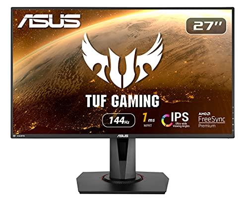 ASUS VG279Q - Monitor Gaming de 27' Full-HD (1920x1080, 1 ms, 144 Hz, IPS, Adaptive-Sync, ELBMB, HDMI, DisplayPort,DVI-D) Negro