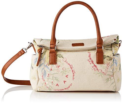 Desigual Fabric Hand Bag, Mano Mujer, Blanco, U