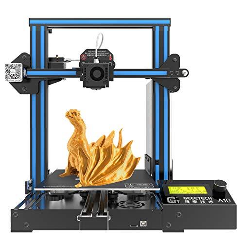 GIANTRAM A10 Impresora 3D Prusa I3 tiene un área de impresión de 220 × 220 × 260mm, que es fácil de montar, con alta precisión de impresión, alta velocidad y bajo nivel de ruido.
