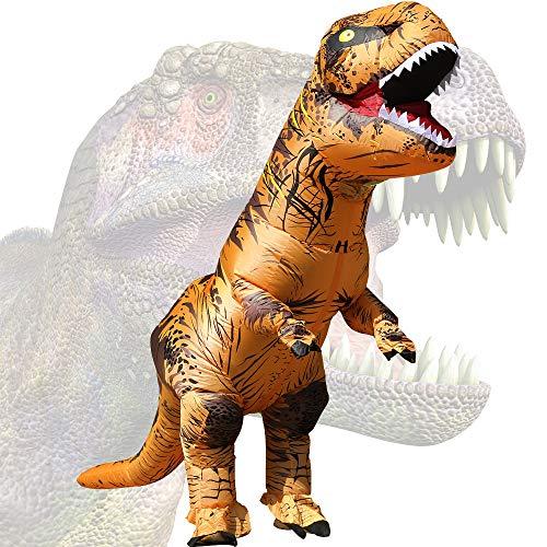 JASHKE Disfraz Dinosaurio Inflable T-Rex Disfraz Halloween Adulto Disfraz Cosplay Disfraz Fiesta Disfraz