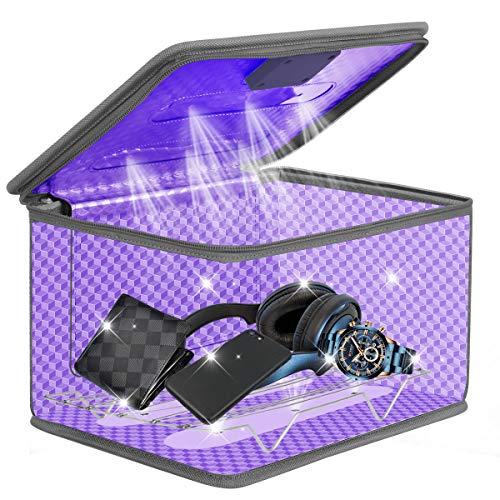 Esterilizador UV Desinfección UVC Portátil Caja Ultravioleta Lámpara 99% de Eficiencia Esterilización en 5 Minutos Utilizada Para Teléfonos Móviles Juguetes Movil Manicura etc.