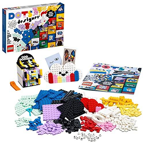 LEGO 41938 Dots Caja de Diseños Creativos, Organizador de Escritorio con Cajones, Marco de Fotos y Portalápices, Manualidades para Niños