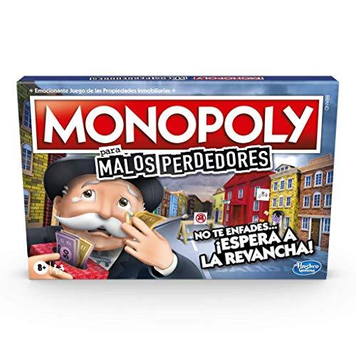 Monopoly Juego De Mesa Malos Perdedores, A Partir De 8 Años, El Juego En El Que Conviene Perder (Hasbro E9972190)