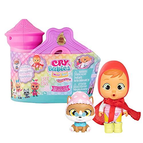 BEBÉS LLORONES LÁGRIMAS MÁGICAS Casa de Cuentos   Mini Castillo y su torre con 1 muñeca sorpresa y su mascota, que llora de verdad, con ropa y accesorios  Juguete para niñas y niños + 3 años