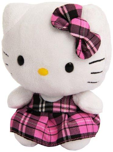 TY 40819 - Hello Kitty con vestido rosa de estilo escocés [Importado de Alemania]